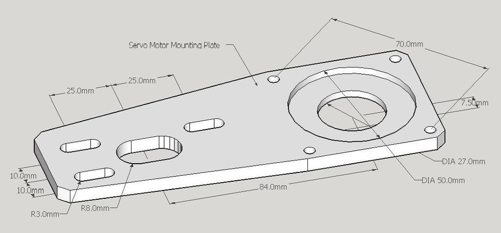 Servomotormountingplate on Cnc Servo Motor Kits